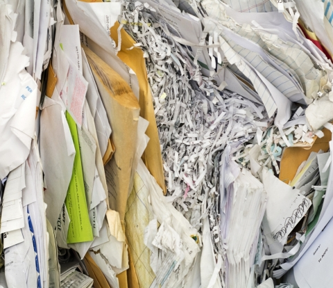 Pile of trashy looking paper